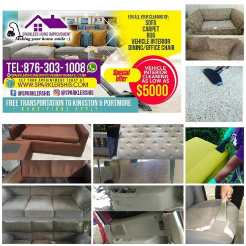 Sofa, Mattress, Vehicles Interior Cleaning Service