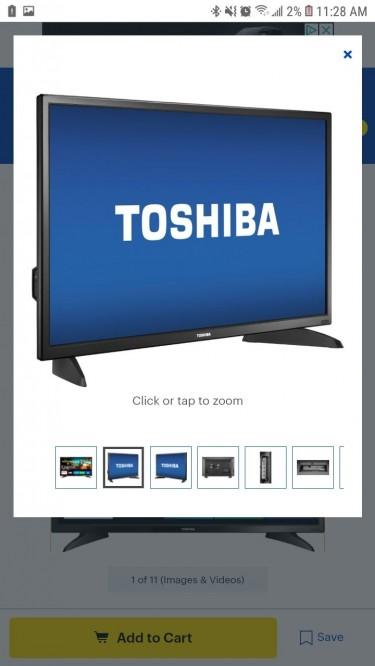32 In Toshiba Smart Tv
