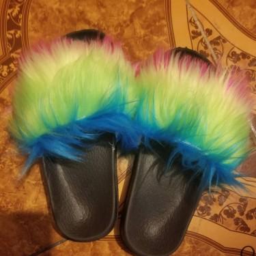 Furs Slides For Ladies N Little Girls N 5D Mink La
