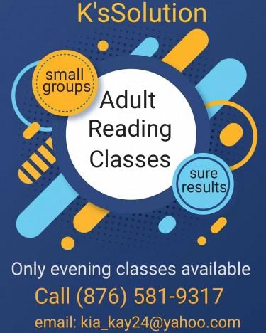 ADULT READING CLASSES