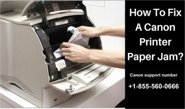 How To Clear Jammed Paper On A Canon Printer?