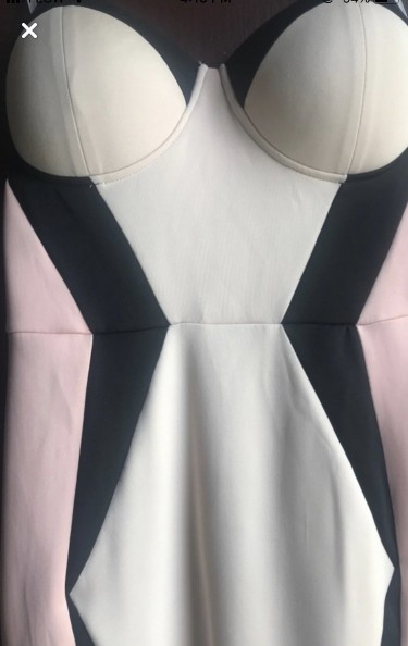 PINK & BLACK DRESS SMALL