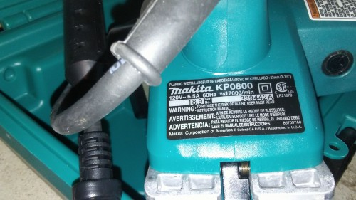 Husquaverna Powersaw And Makita Electric Plainer F