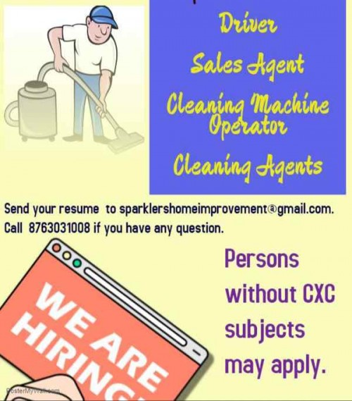 Cleaners Needed 30k Per Month