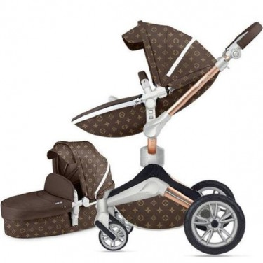 3 In 1 Leather Hot Mom Stroller High Landscape Fol