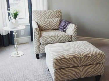 CUSTOM BUILD YOUR OWN BEAUTIFUL CHAIR AND OTTOMAN