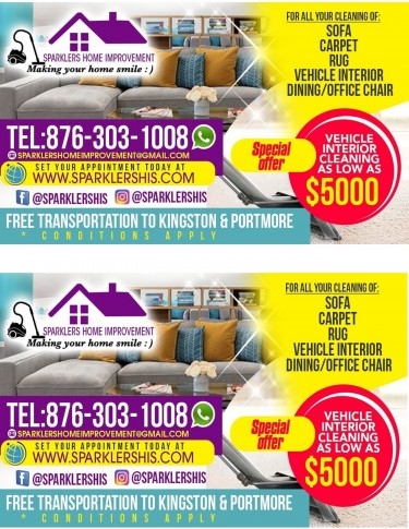 SOFA CLEANING, VEH. INTERIOR CLEANING & MORE