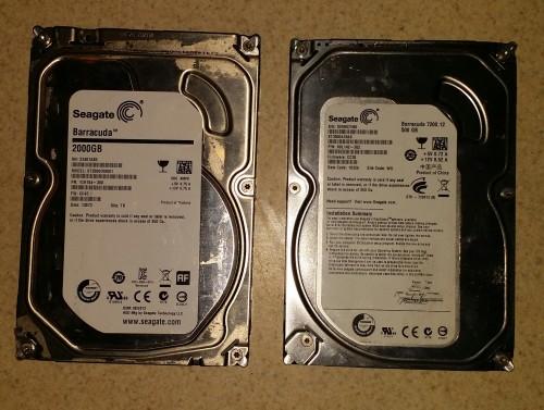 2 TB And 500GB SATA Hard Drive