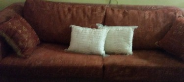 3 SEATER SOFA (1 PC) WITH PULL OUT BED (MUST GO!) Furniture Patrick City (off The Boulevard)