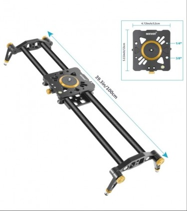 Newer 40 Inches Carbon Fiber Camera Track Slider R