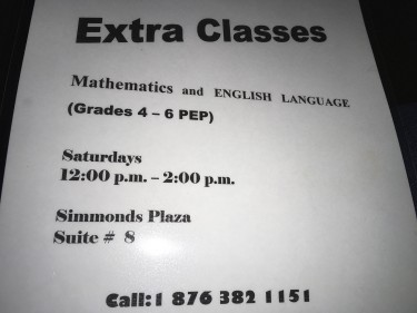 Maths And English P.E.P. Classes In Ocho Rios.