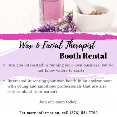 Space Rental- Wax & Facial Therapist