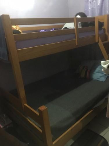 Cedar Wood Bunk Bed Including 2 Mattresses