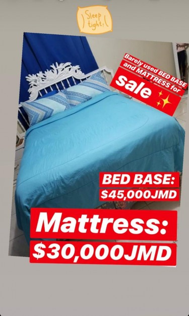 Queen Size Wood Bed Base And Pillow Top Mattress