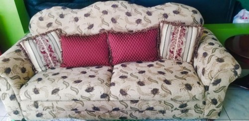 Beautiful  Floral  Sofa Bed