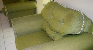 2 Piece Green Sofa Set
