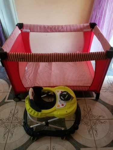 Used Baby Walker And Play Pen For Sale