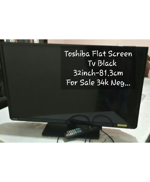 Toshiba 32 Inch FlatScreen Tv Black