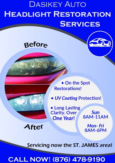 On The Spot Headlight Restoration Services Other Market Anywhere
