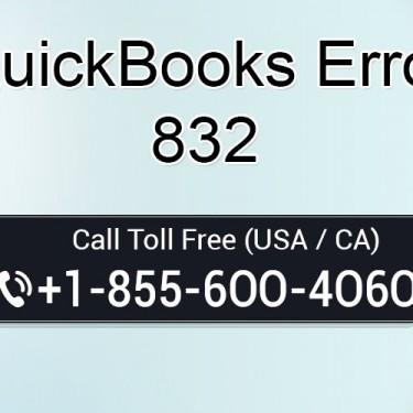 Fix QuickBooks Error 832 Dial 1-855-6OO-4O6O