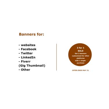 Marketing Banners For Website & Social Media
