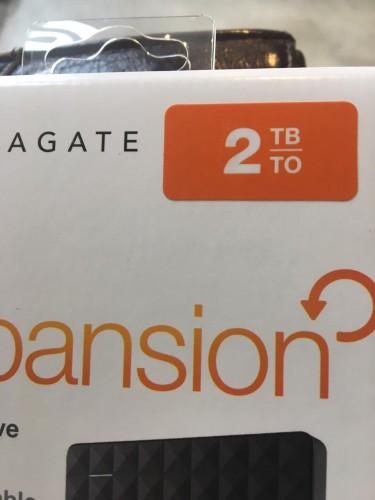 Seagate 2 TB Portable Storage