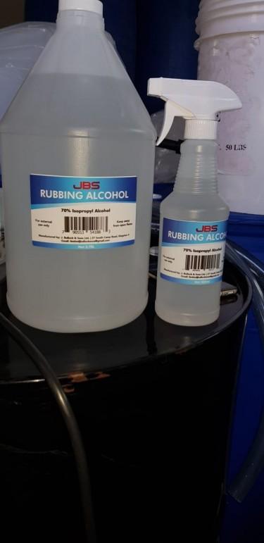 JBC 70% Rubbing Alcohol Gal $2200, Sprayer $700