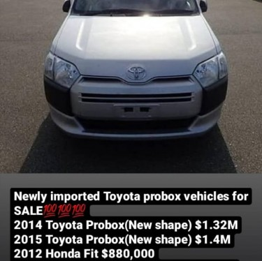 Toyota Probox Vehicles Cars Deanery Road