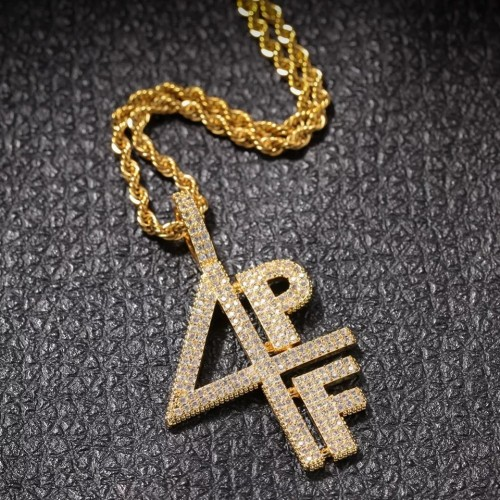 4PF Four Pockets Full Iced? Out Necklace