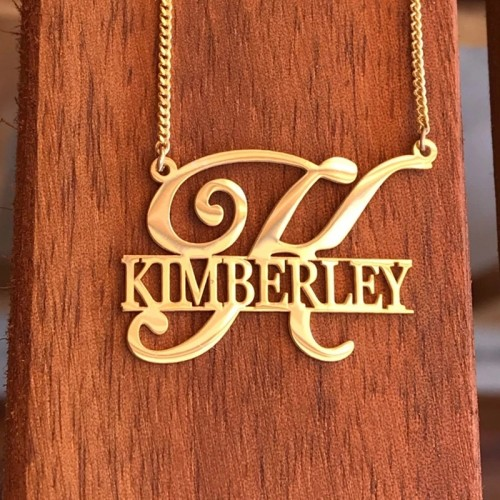 Customized Name Plated Necklace With Initial