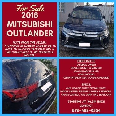 2018 Mitsubishi Outlander Vans & SUVs New Kingston