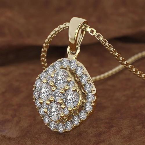 18K Gold Necklace Pierscionki Gemstone