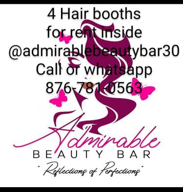 4 Hairdresser Booths For Rent