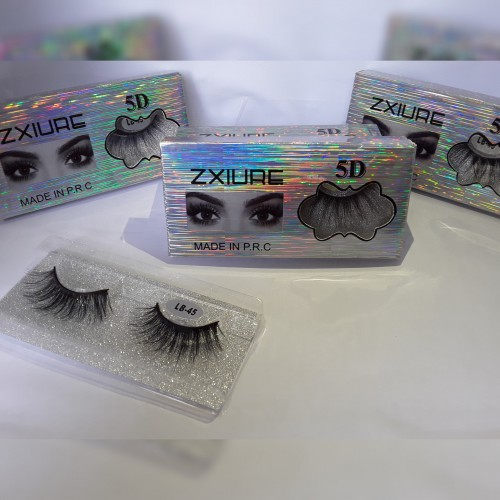 Lashes And Glitters For Makeup And Nails