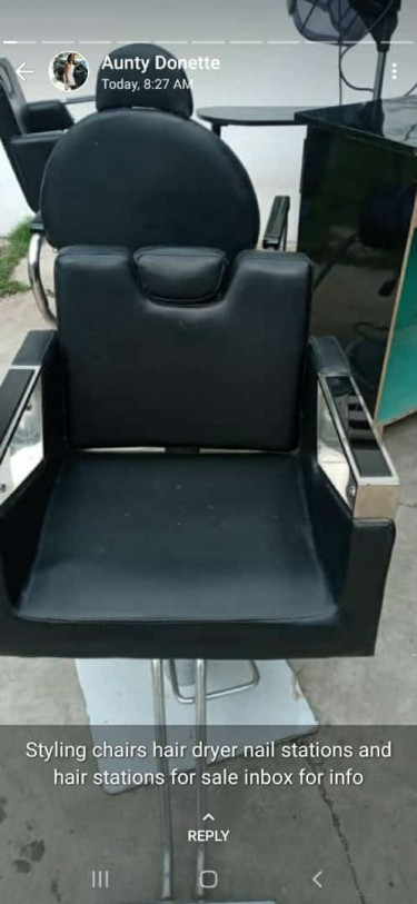 Salon Chairs And Dryer Nail Tables