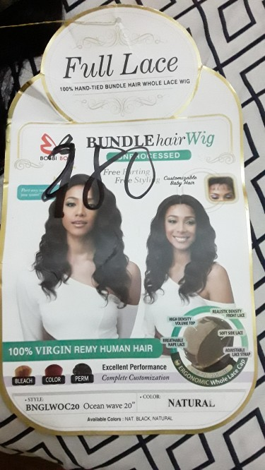 NEW 100% VIRGIN REMY HUMAN  WIG
