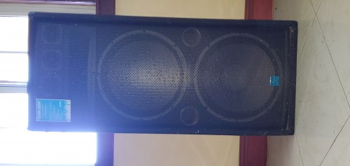 Sound System With 2 Large Speaker Boxes.