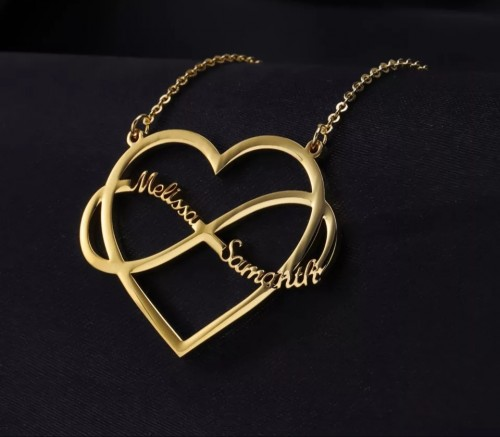 Heart Shaped, Heart Layer, Heart Infinite Necklace