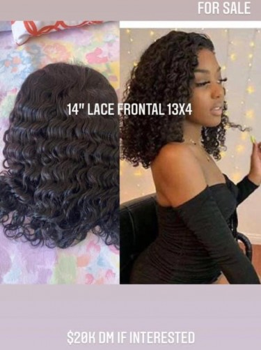 "14"" Lace Front Deep Curl Wig"