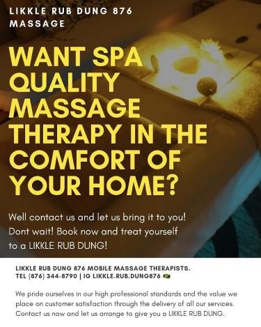 Likkle RubDung 876 Therapeutic Spa Quality Massage Healthcare Kingston