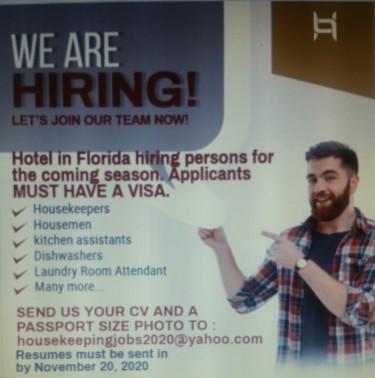 Housekeepers And Housemen Needed