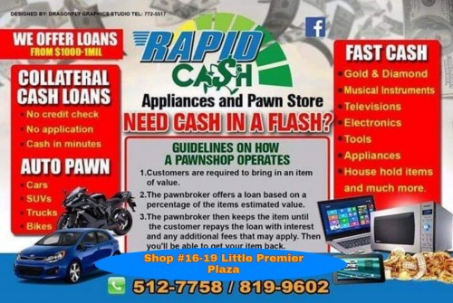 Pawnstore/collateral Loans