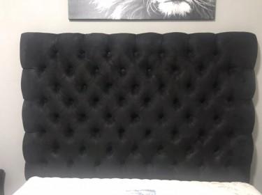Queen Size Suede Bed