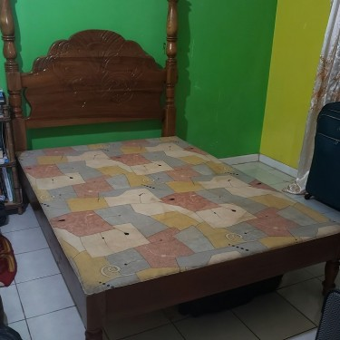 Double Bed Frame And Headboard Furniture Portmore