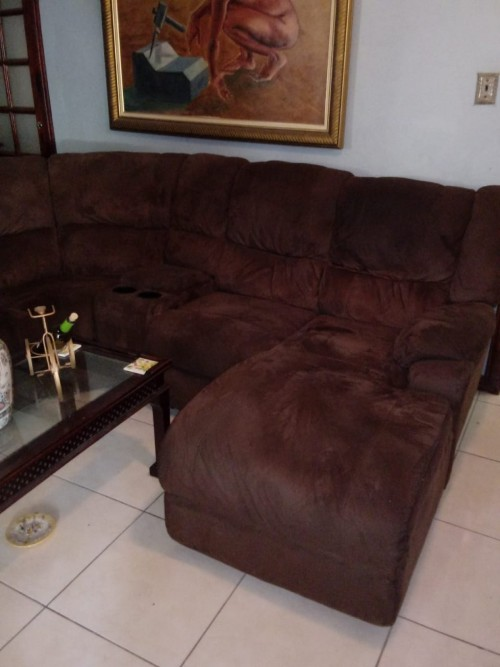Microfibre Sectional Sofa