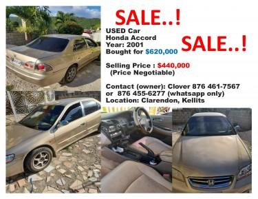 Honda Accord (price Negotiable) UPDATED To $380,00