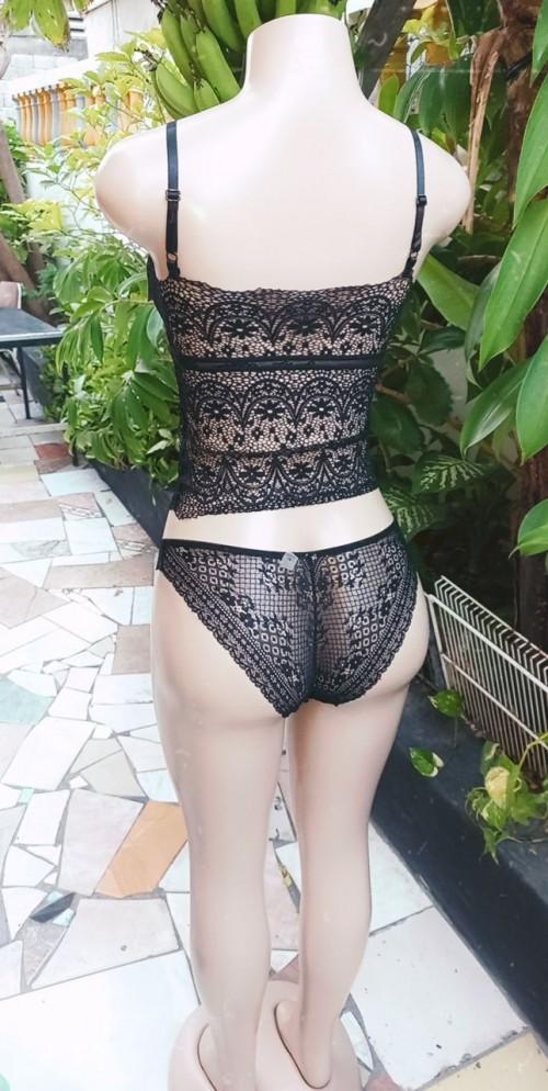 Sexy Lace Female 2 Piece Lingerie Set