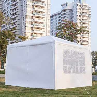 Outdoor Gazebo Tent With Removable Curtains 10/10
