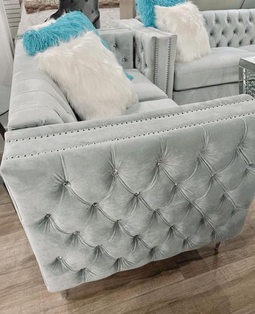 Grey 2 Piece Sofa Set