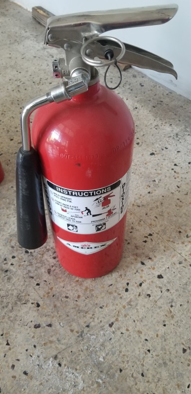 Two Charged Fire Extinguishers (price For Both)
